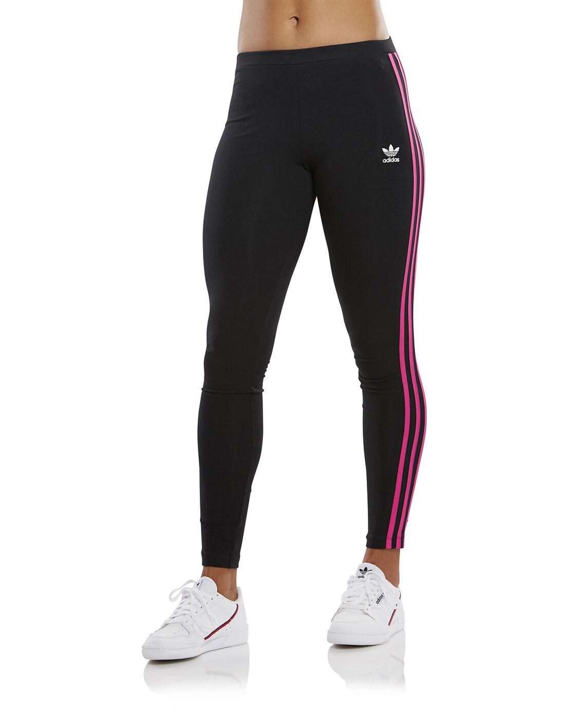 Women's Black & Pink adidas Originals Leggings | Life Style