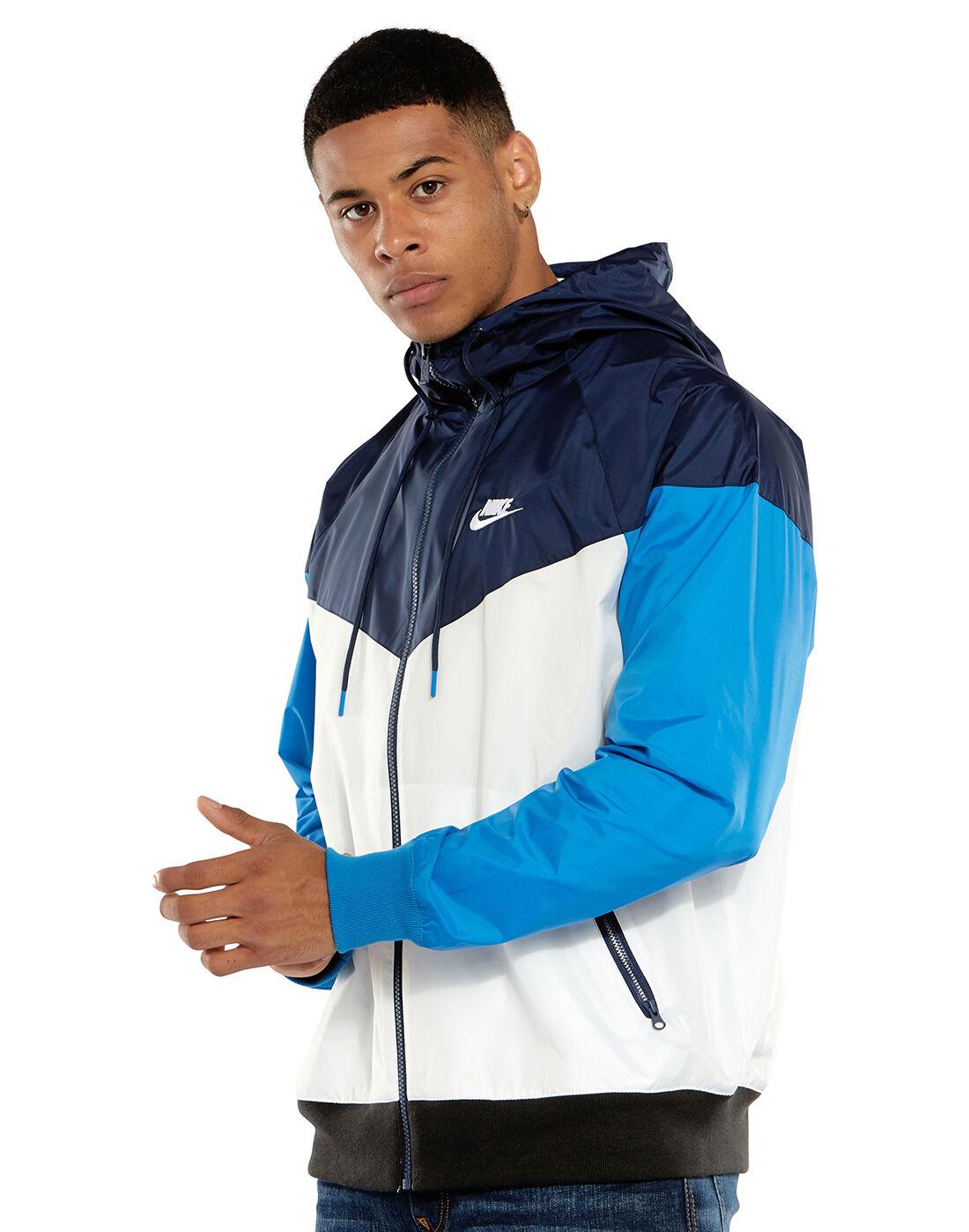 nike windrunner jacket navy blue