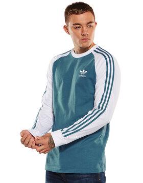 Mens 3-Stripes Long Sleeve Tee