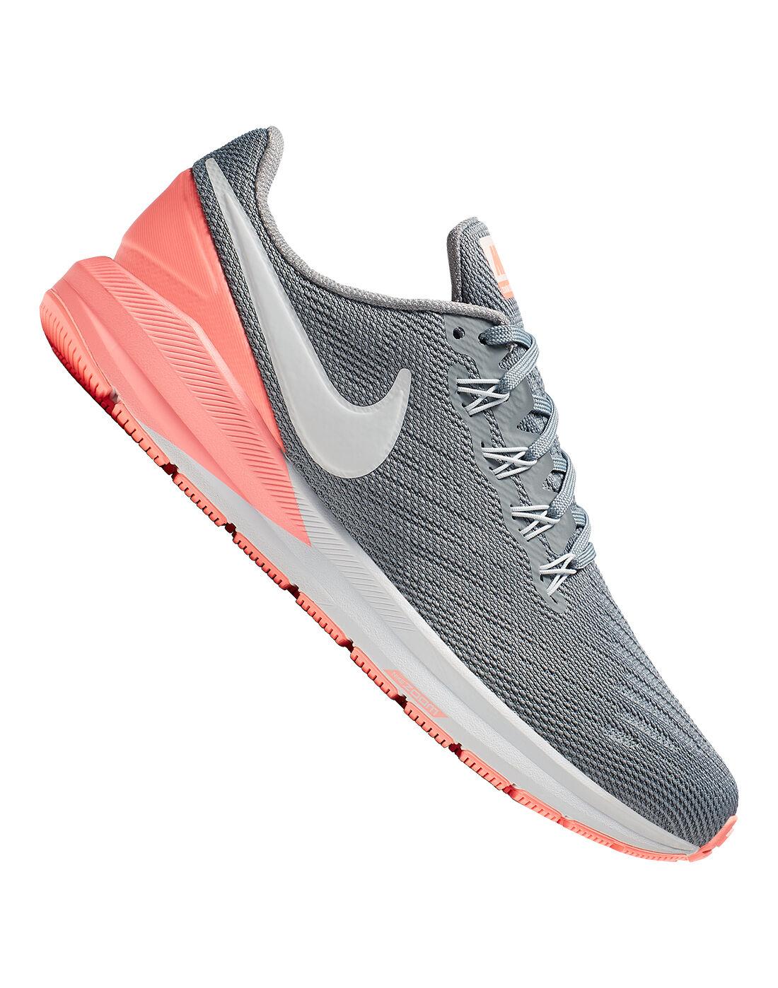 Grey \u0026 Peach Nike Air Zoom Structure 22