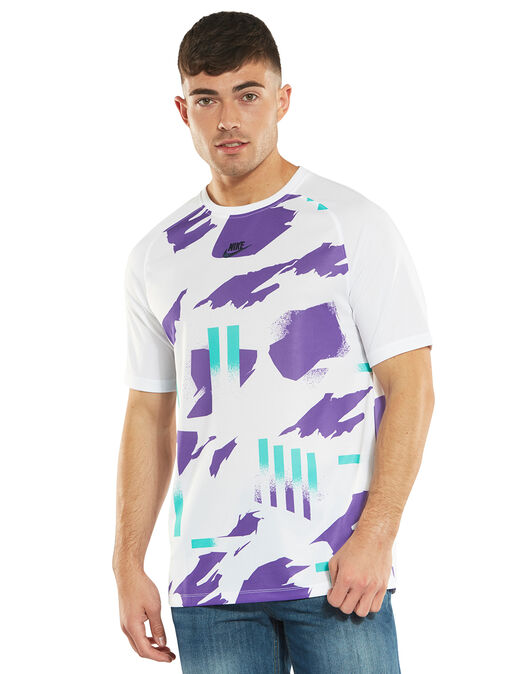 4b9818c3a78c Men's White & Purple Nike Festival Print T-Shirt | Life Style Sports