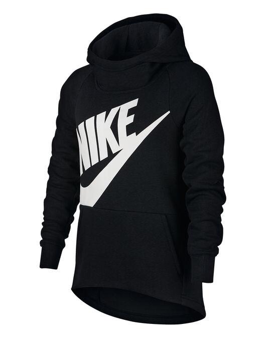3b1043bd67c5 Girl s Black Nike Oversized Hoodie