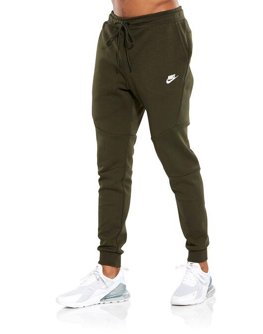 Men S Green Nike Tech Fleece Joggers Life Style Sports