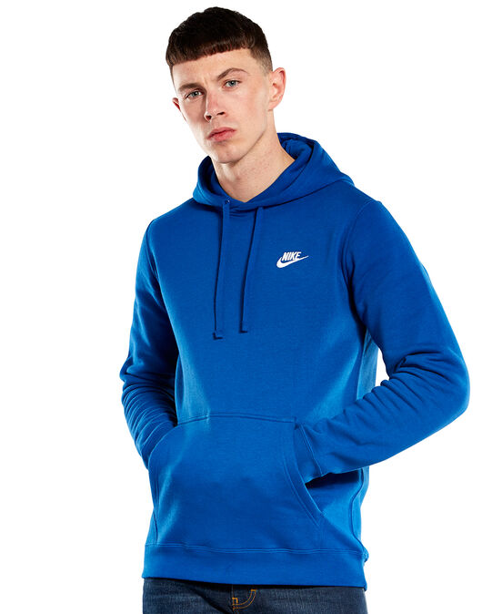 d443240a Men's Blue Nike Club Hoodie | Life Style Sports