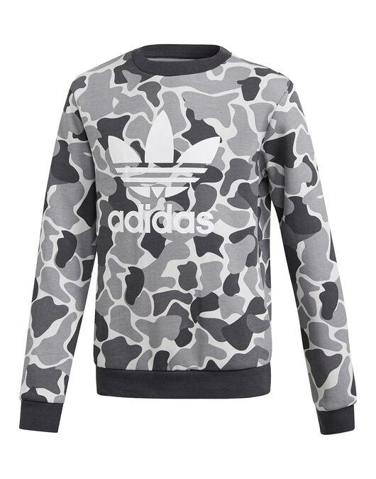 outlet store ac201 c0270 Boy's Black adidas Originals Camo Crewneck | Life Style Sports