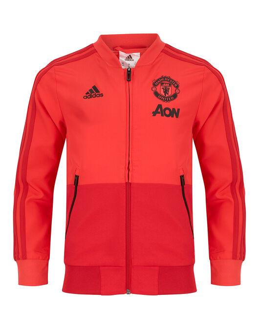 3ac0712387c Kids Red Man United Presentation Jacket