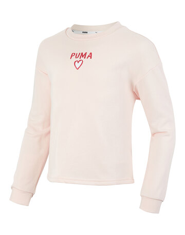 Older Girls Heart Crew Neck Sweatshirt