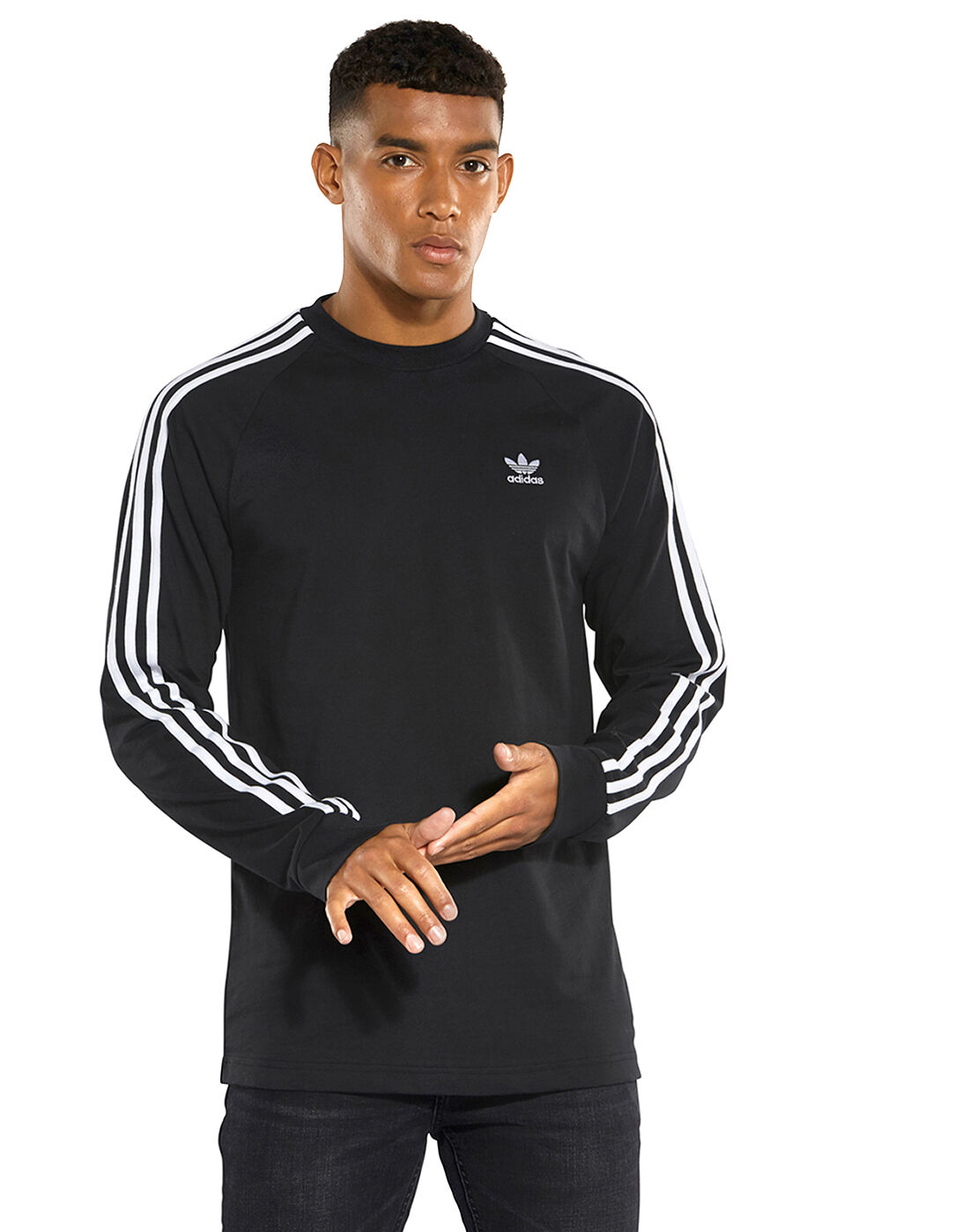 adidas Originals Mens 3-Stripes Long-Sleeve Tee