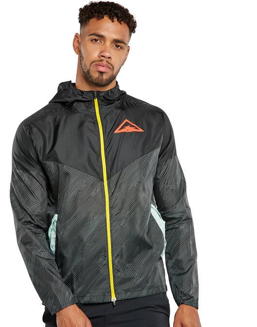 Tahití Alergia mezcla  Nike Mens Trail Windrunner Jacket - Black | Life Style Sports IE