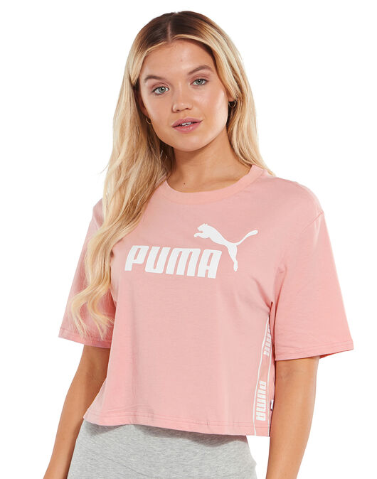 Womens Cropped Logo T-Shirt