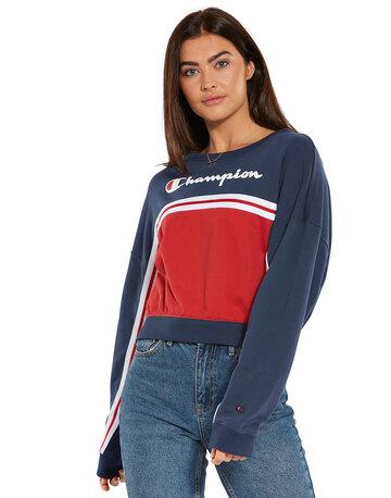 c1725a6cb0fd Womens Cropped Crewneck Sweatshirt ...