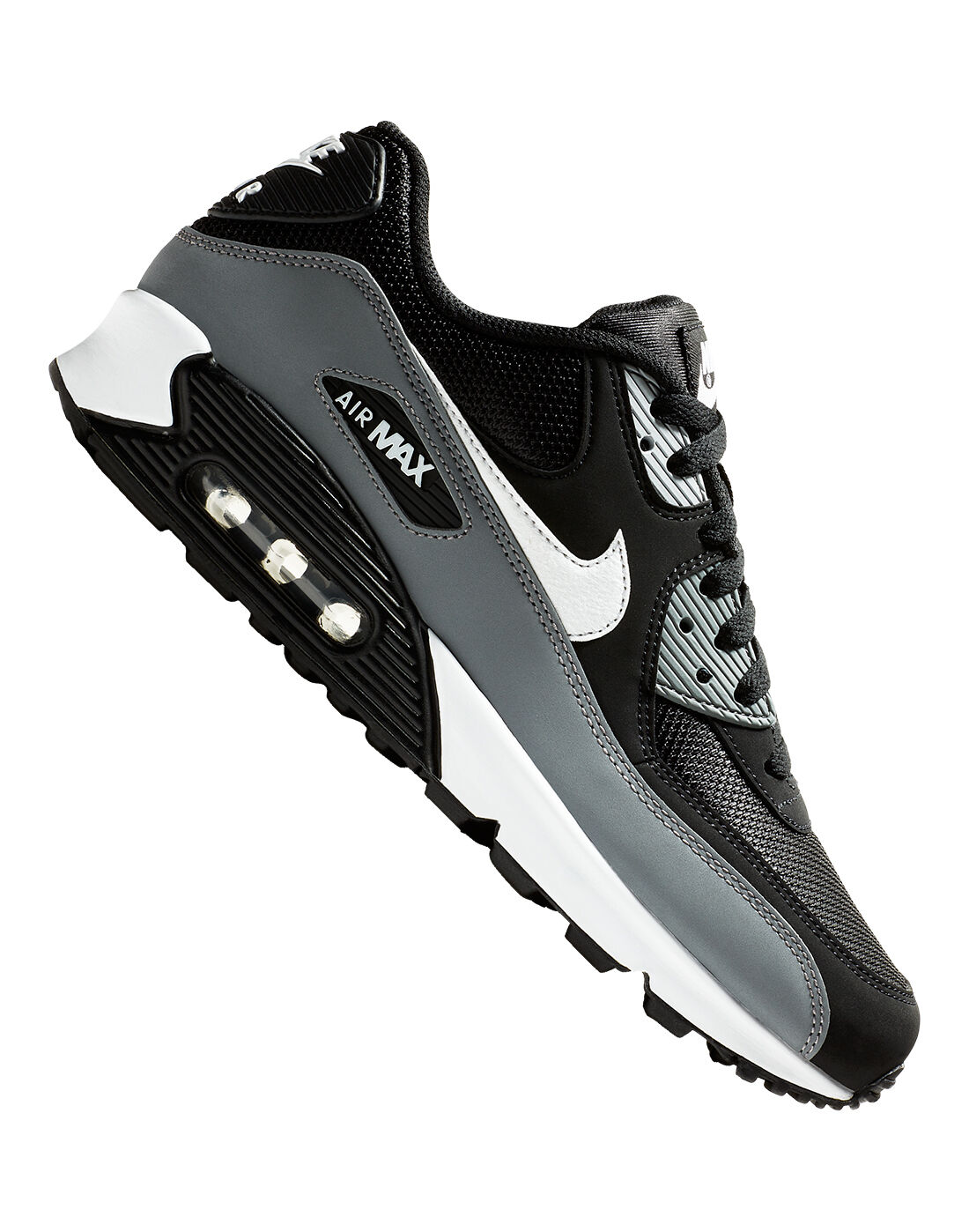 Men's Black & Grey Nike Air Max 90 Essential | Life Style Sports