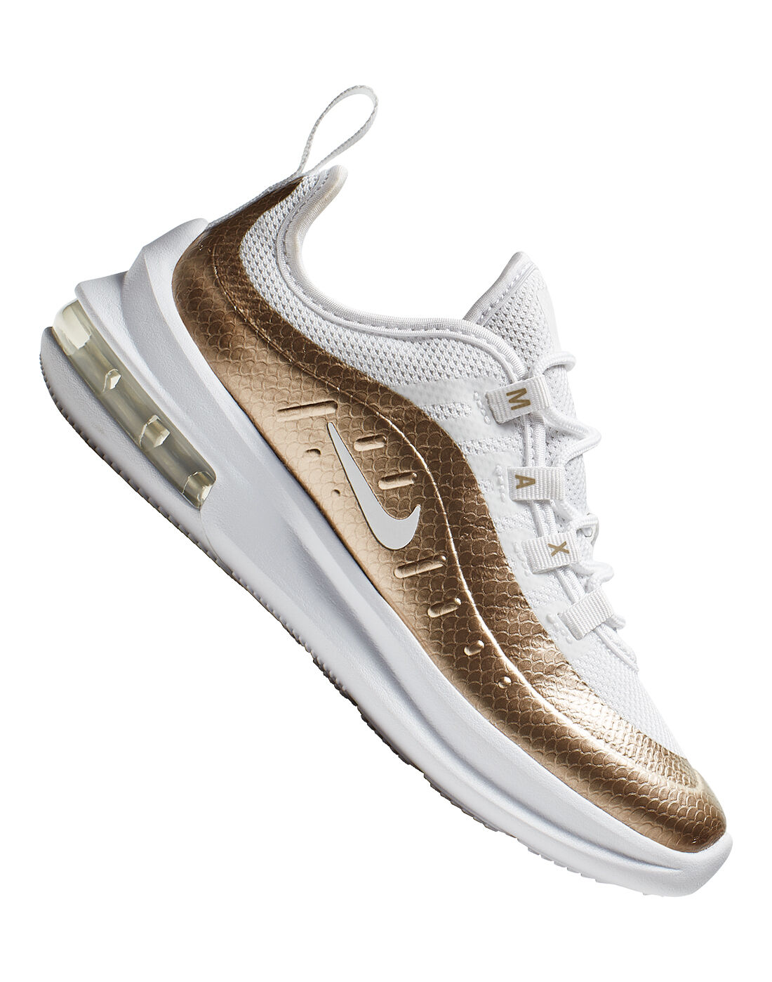Young Girl's White & Gold Nike Air Max Axis | Life Style Sports