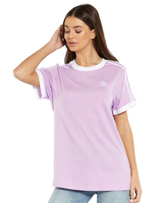 9608f194b26 Women s Purple adidas Originals 3-Stripe T-Shirt