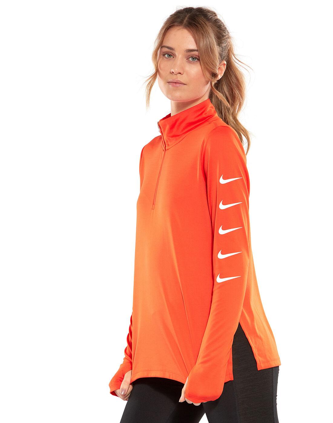 Nike Womens Swoosh Half Zip Top