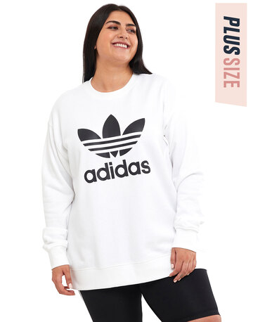 Womens Trefoil Crewneck Sweatshirt