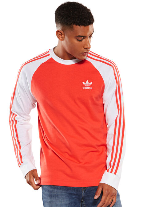 276994ed4 Men's Red adidas Originals Long Sleeve T-Shirt | Life Style Sports