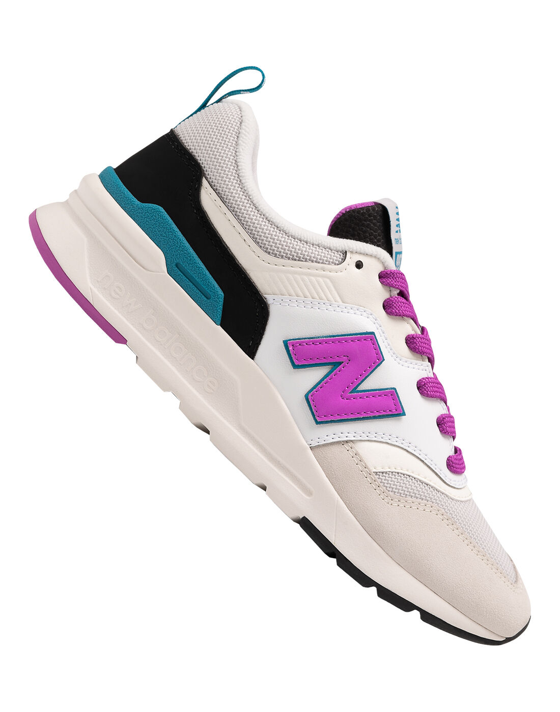 New Balance Womens 997H Trainers, Black & Pink