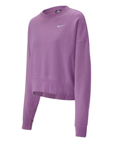 Womens Fleece Crewneck Trend Sweatshirt