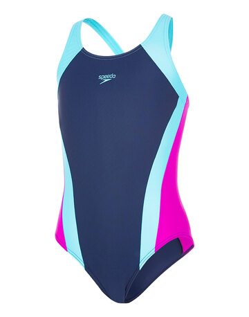 Junior Girls Panel Splashback Swimsuit