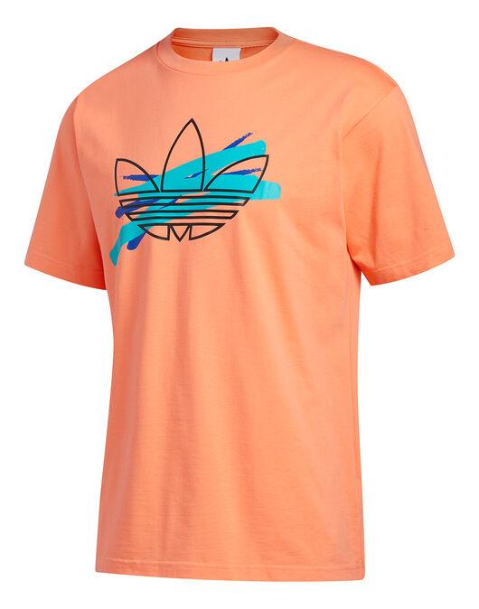 Mens Trefoil Paint T-Shirt