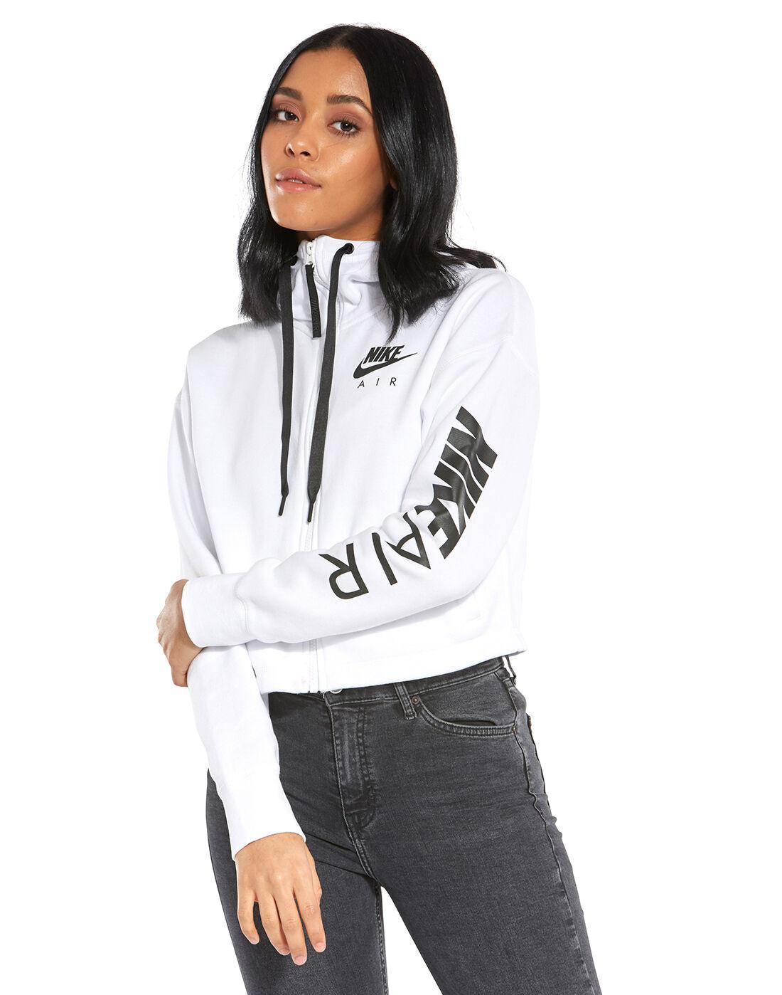 Women's White Nike Air Fleece Hoodie