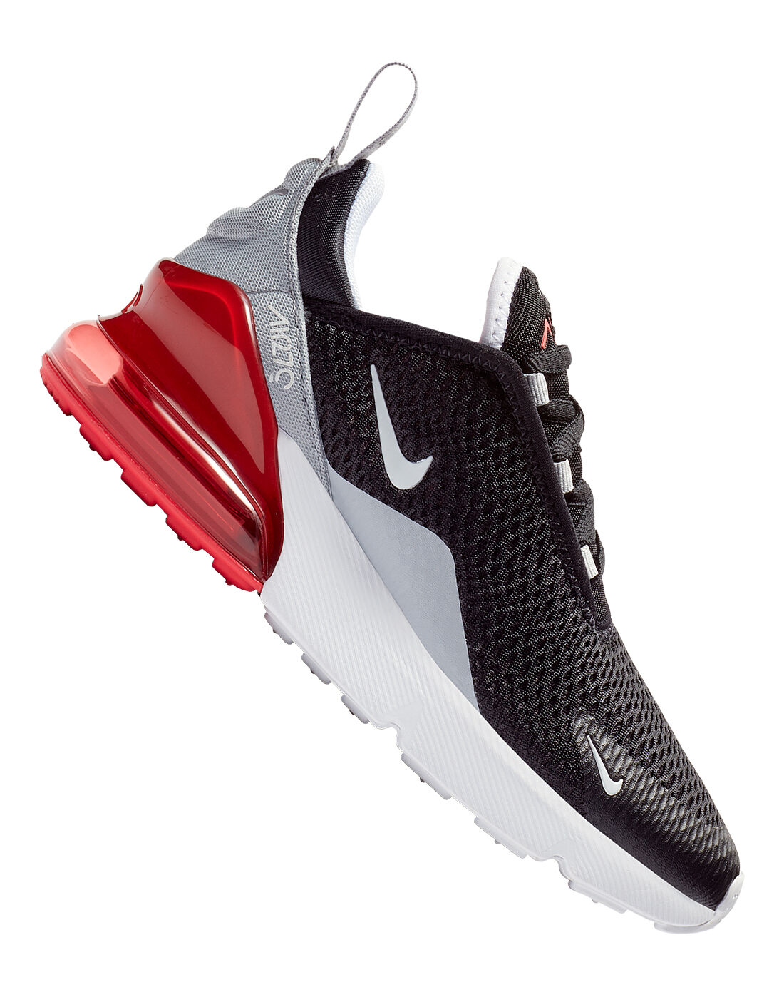 Young Kid's Black & Red Nike Air Max 270   Life Style Sports