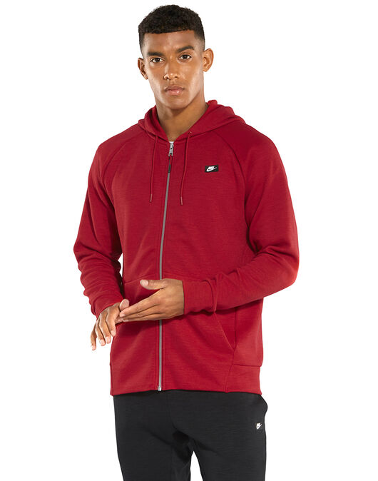 Men s Red Nike Optic Full Zip Hoodie  6e89d8273