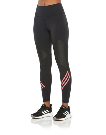 Womens 3-Stripes Mesh Leggings