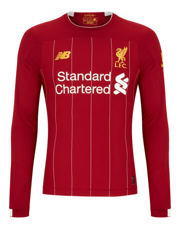 8b0d3bc3f8a Adult Liverpool 19 20 Home Jersey ...