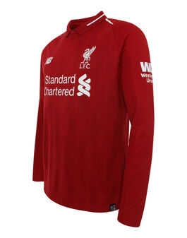 Kids Liverpool 18/19 Home Jersey LS