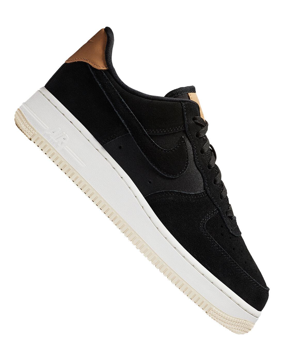 Women's Black Suede Nike Air Force 1