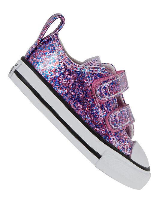 Infant Girls All Star Coated Glitter