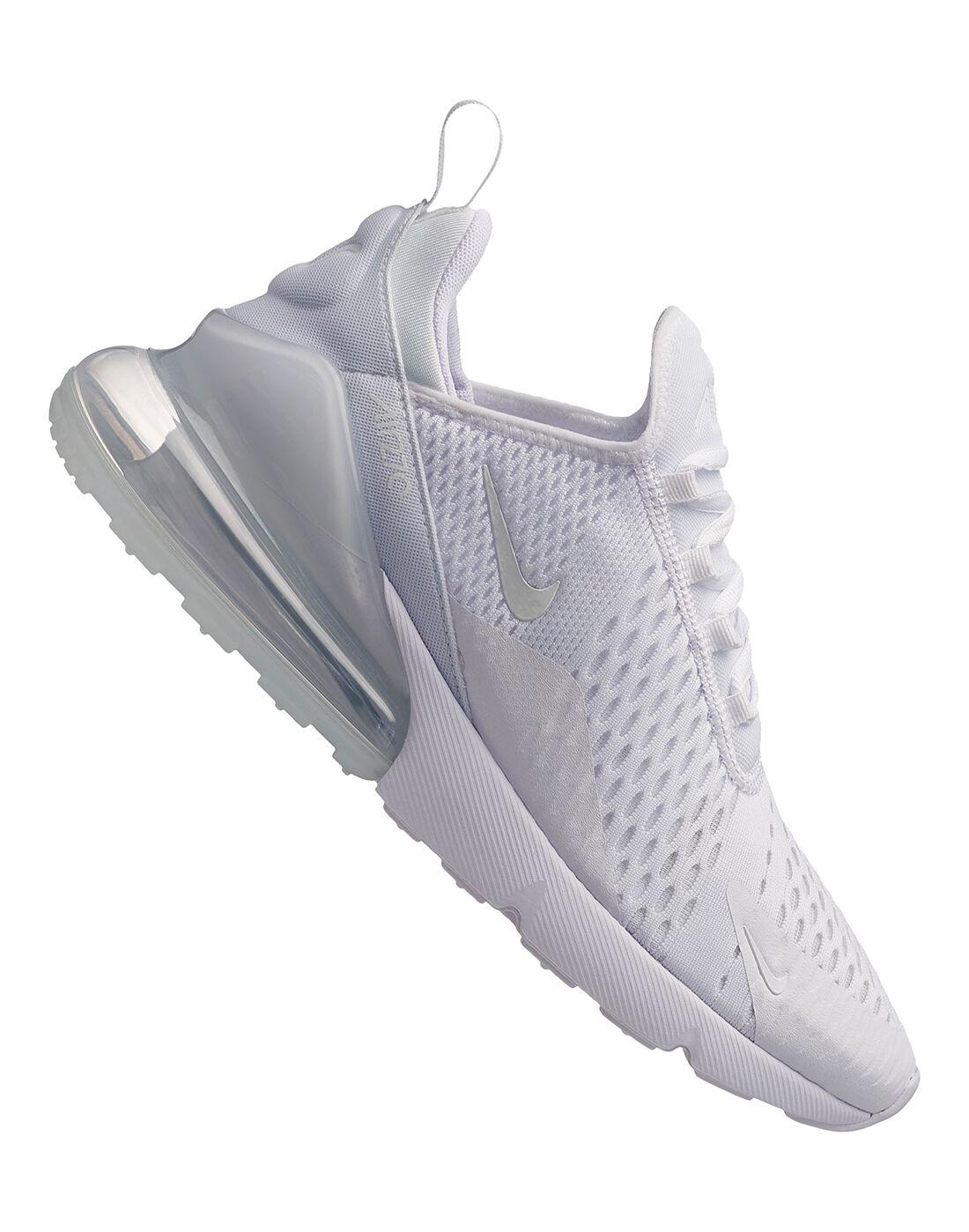 Men's Triple White Nike Air Max 270