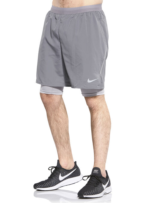 3c9b7ce5a8 Men's Grey Nike 2 In 1 Running Shorts | Life Style Sports