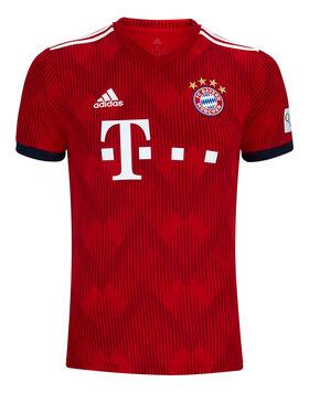 Adults FC Bayern 18/19 Home Jersey