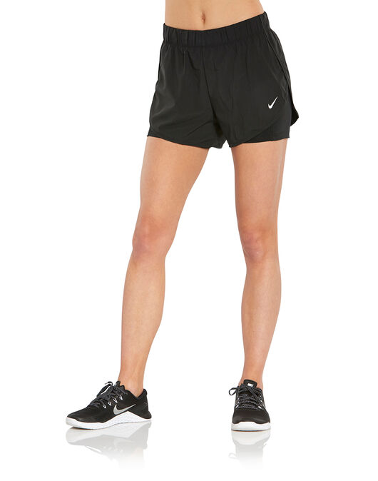 3d6871ae17a1f Women s Black Nike 2 in 1 Gym Shorts