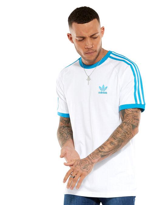 6e51b50d6 Men's White adidas Originals 3-Stripe T-Shirt | Life Style Sports