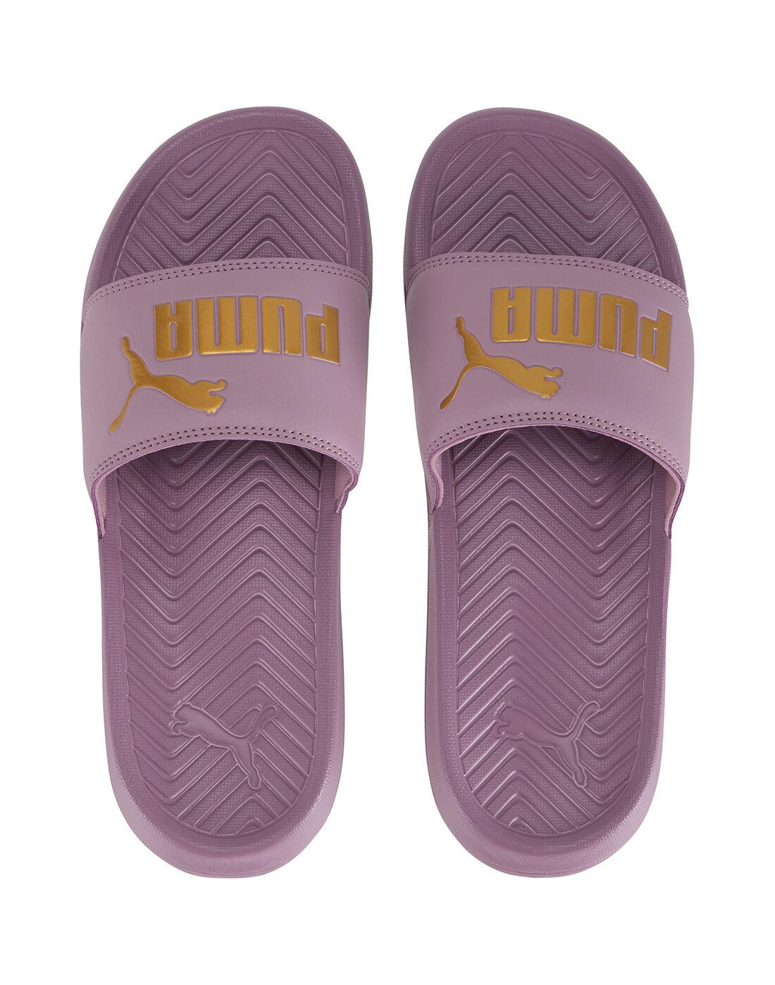 Women's Purple Puma Slides   Life Style