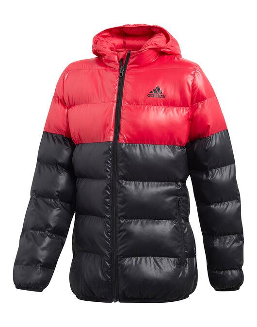 56f27e2b63e6a Girls adidas BTS Jacket   Black & Red   Life Style Sports