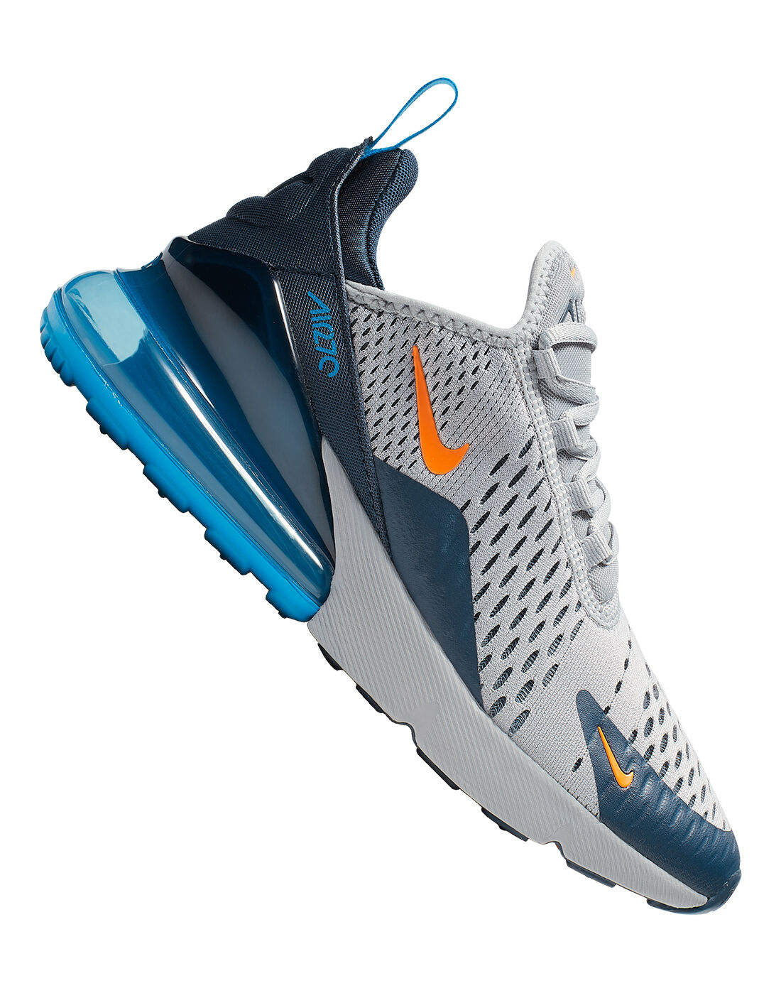 nike air max 270 grey blue and orange