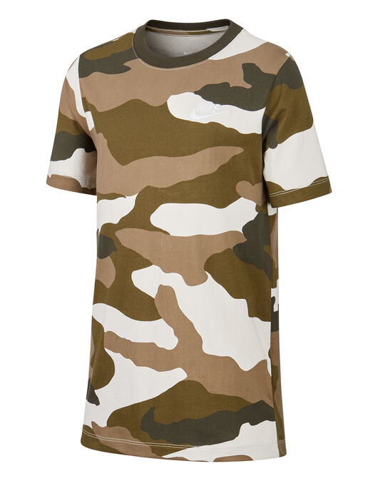 Older Boys Futura Camo T-Shirt
