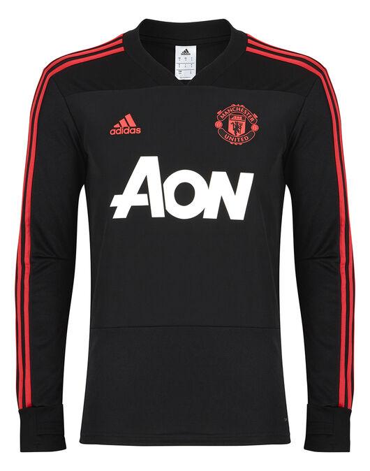 Man United Black Training Top Adidas Life Style Sports