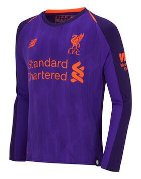 Kids Liverpool 18/19 Away Jersey LS