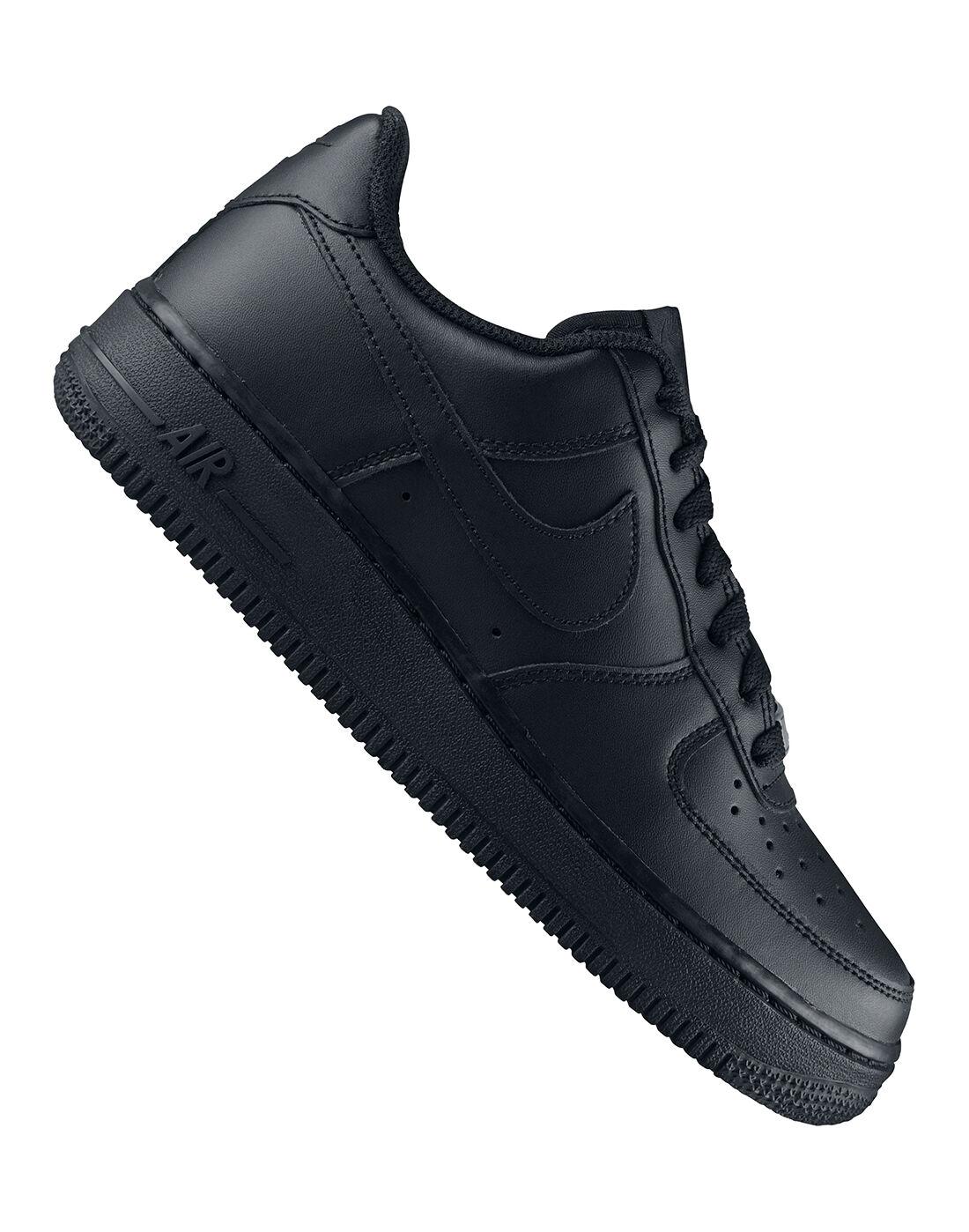 Kids Black Nike Air Force 1 | Life