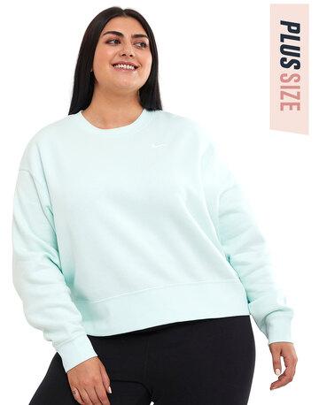Womens Fleece Trend Crewneck Sweatshirt