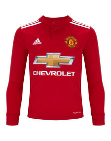 Kids Man Utd 17/18 Home Jersey LS