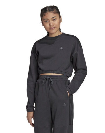 Womens BOS Cropped Crewneck Sweatshirt