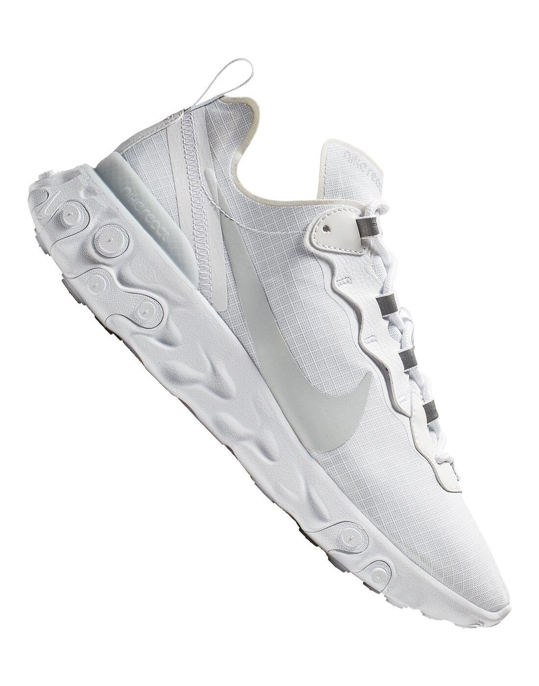 Men's White Nike React Element 55
