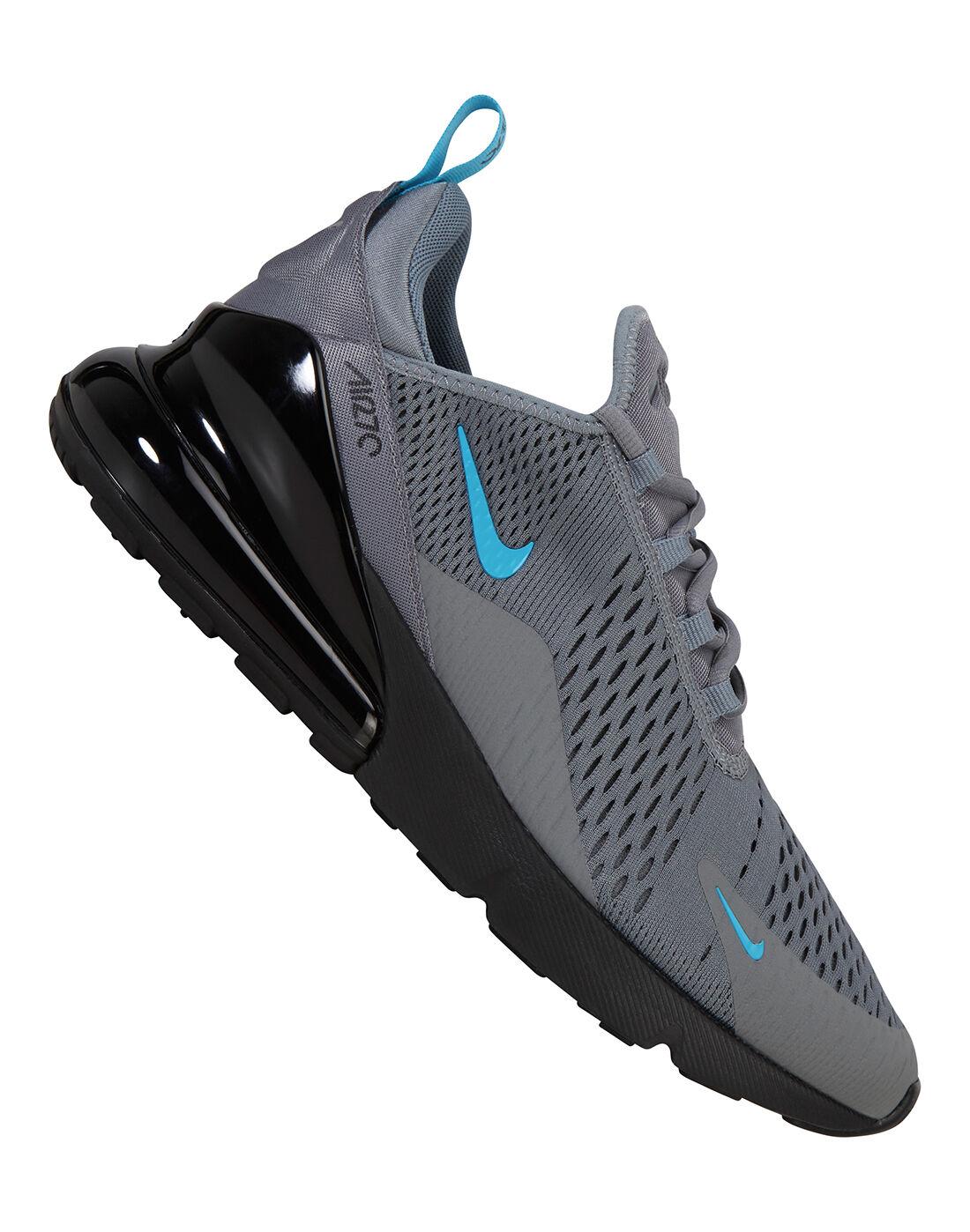 Men\u0027s Grey \u0026 Blue Nike Air Max 270